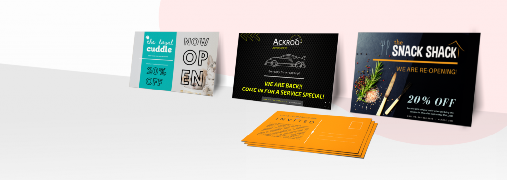 Ackroo Shop direct mail banner
